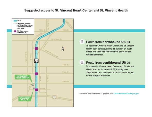 Suggested access routes. (Submitted map)