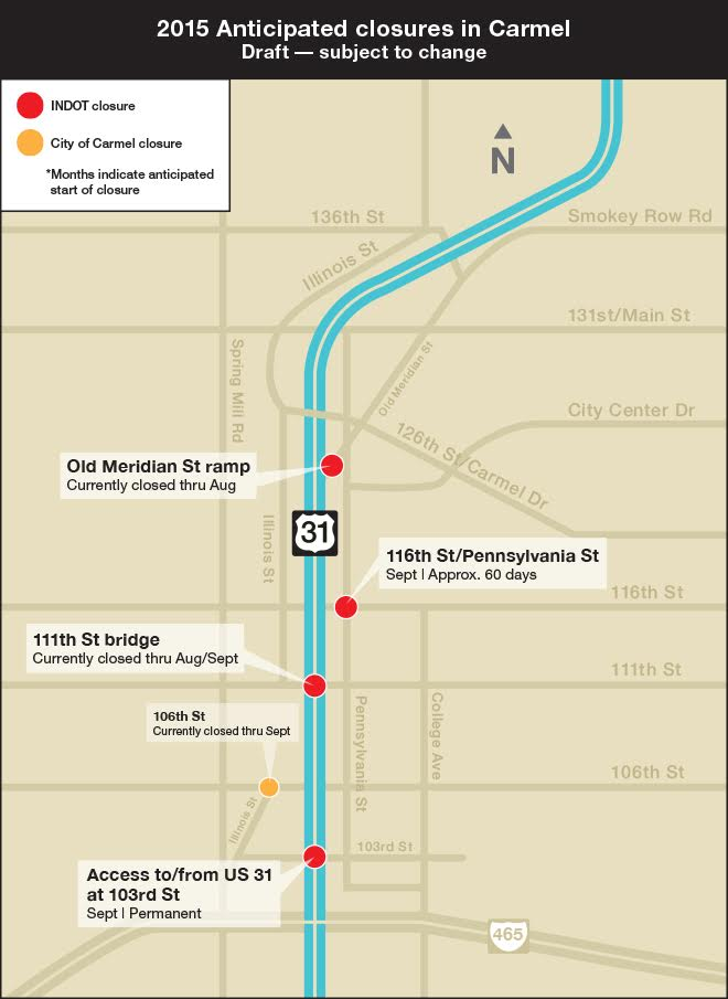 This map is courtesy of INDOT.
