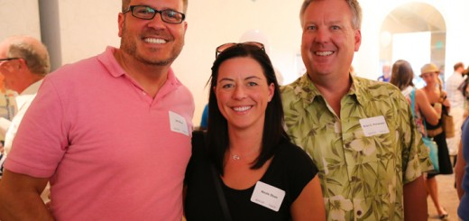 Jon Olson, from left, Nicole Olson and Judge Brian Poindexter.