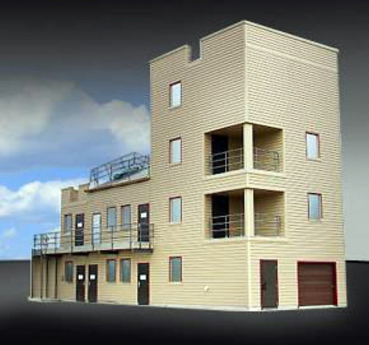 A rendering of the proposed burn tower that area firefighters say would have provided more advanced, real-life training. (Submitted rendering)