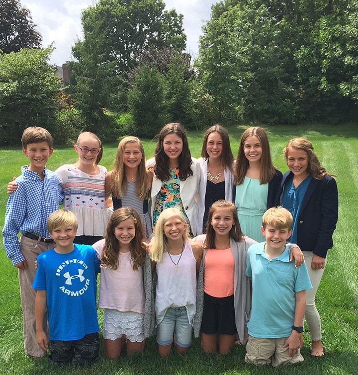 Several local teenagers are working together through Pencils of Promise Indy to raise money to build a school in a developing country. They are, back row from left, Jack Button, Emily Hand, Lily Freihofer, Anna Tobias, Claire Boyer, Megan Walawender, Annie Leppert, and front row from left, Walker Lazbury, Abbie Grace Tobias, Hannah Pedersen, Maddy Massa, and Sam Tobias. (Submitted photo)