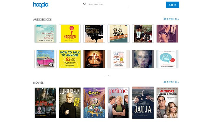 Hoopla Digital has partnered with the Carmel Clay Public Library to offer free access to digital content. (Screenshot)
