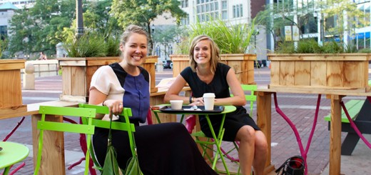 "Visit Indy's Christine Beyer Zetzl and Morgan Snyder, director of Leisure Communications, were a bundle of fun and told ""Where's Amy?"" they are trying to bring Northside and downtown residents together."