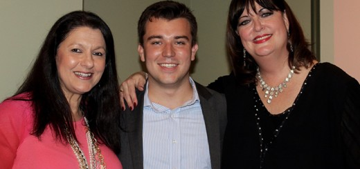 Songbook youth ambassador, Lucas DeBard with The Center for the Performing Arts President/ CEO Tania C. Moskalenko and Ann Hampton Callaway. (DeBard said he was excited and a bit nervous when asked by Callaway to sing for her after the concert.)
