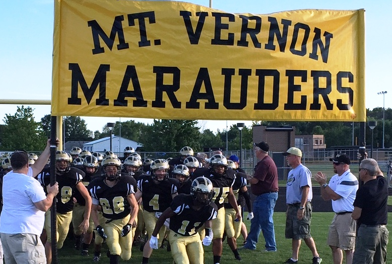 The Mt. Vernon High School football team, the Marauders, added eight players this season. (Submitted photo)