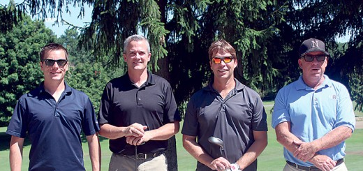The winning foursome, from left to right: Nathan Taulman, Tom Dickey, HAND Board President Tom Peck and Blair Carmosino. (Submitted photo)