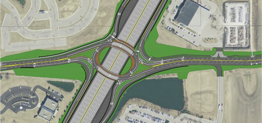 A rendering of the interchange at I-69 and 106th Street. (Submitted rendering)