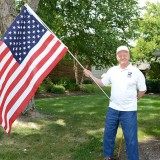 Jim Cluck pictured at his home in Zionsville, is traveling to South Carolina to meet with other USS Missouri veterans this month. (Photo by Theresa Skutt)