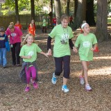 From left, Leah Sousa, second grade teacher Deanna Schmidt and Caroline Sampson run in the 2014 Jog-a-thon at Eagle Elementary. (Submitted photo)
