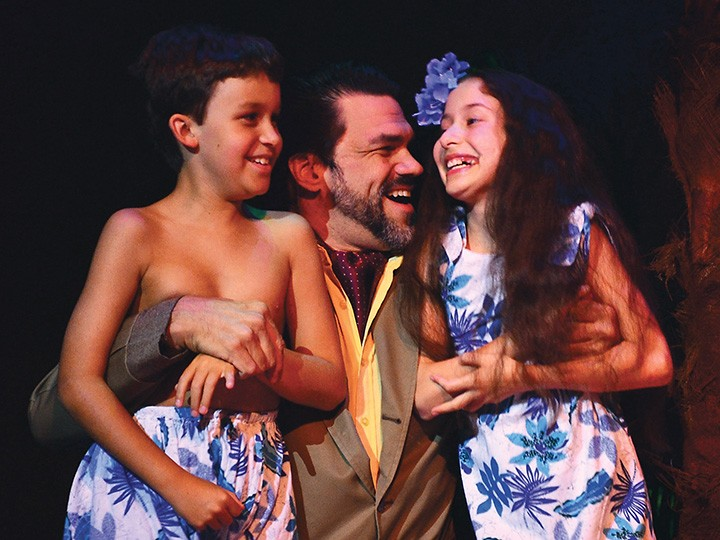 "Anjali Rooney, far right, plays Ngana in ""South Pacific,"" on stage now at Beef & Boards. (Submitted photo)"