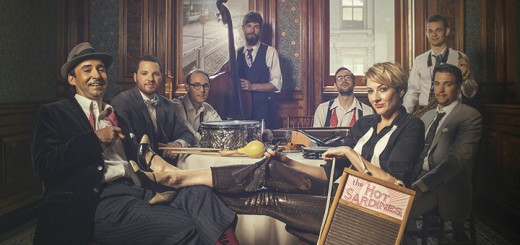 Evan Palazzo and Elizabeth Bougerol with their band, The Hot Sardines. (Submitted photo)