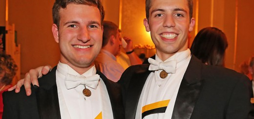 Austin Rauschuber, left, and John Evelo, of Carmel, right, of the Purdue Glee Club will perform in Zionsville Oct. 2. (Submitted photo)
