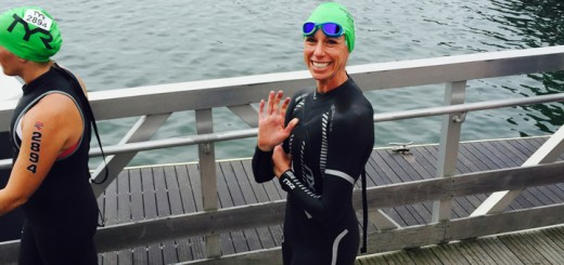 Christie Petersen competes in a triathlon in August in Wisconsin. (Submitted photo)