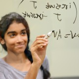 Sreya Vemuri, a senior at Carmel High School, has earned a $25,000 Davidson Fellows scholarship for her work in quantum mechanics. (Photo by Theresa Skutt)