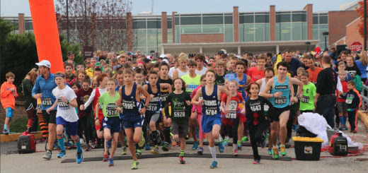 Racers take off across the starting line at the 2014 Ghosts & Goblins 5K. (Submitted photo)