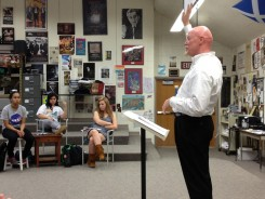 Playwright Andrew Black teaches a class at Carmel High School. His visit was made possible through funds from the Carmel Education Foundation. (Submitted photo)