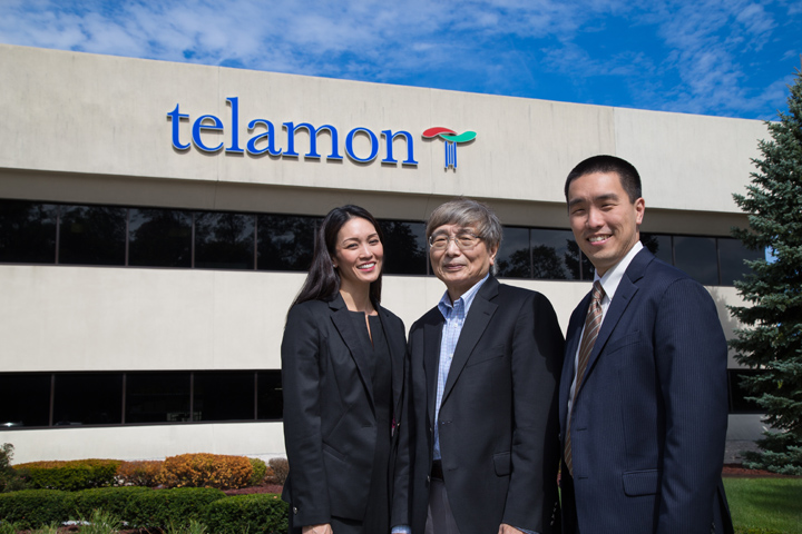 Albert, Stan and Stephanie in front of the Carmel company, Telamon. (Photo by Feel Good Now)