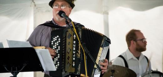 """Polka Bob"" playing his accordion with Polkamotion. (Photos by Molly Simmons)"