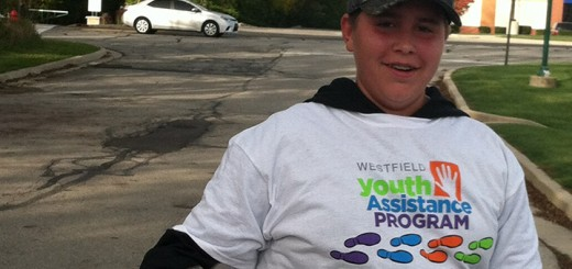 Brennan Wittler participates in last year's Family Fun Walk. (Submitted photo)