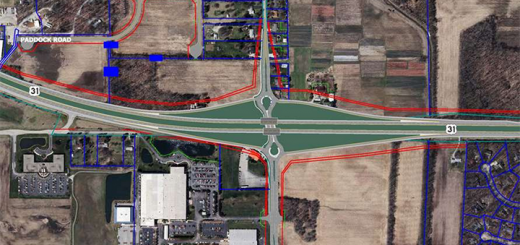 An image of the new interchange at 191st Street and U.S. 31. (Submitted image)