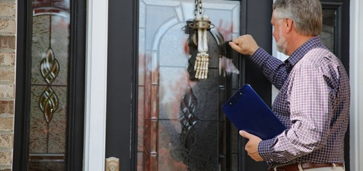 Rob Stokes, councilman and a worker for Westfield's special census, knocks on a door to conduct a census interview. (Photo by Feel Good Now)