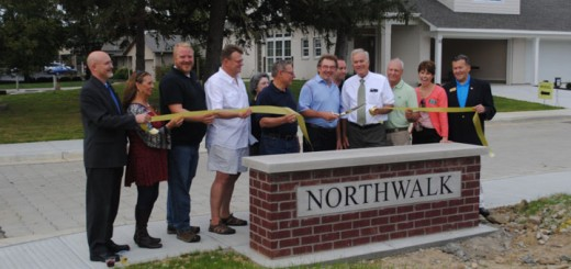 City officials cut the ribbon to the new neighborhood, Northwalk, on N. Union Street, east of the high school.