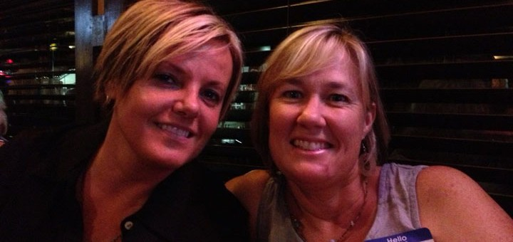 Beth Hohlier, left, and Beth Bates, right, at a fundraiser at Muldoon's. (Submitted photo)