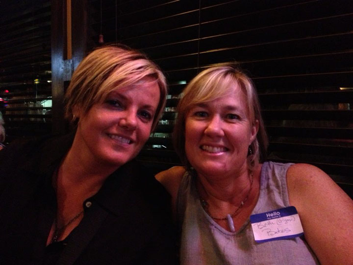 Beth Hohlier, left, and Beth Bates, right, at a fundraiser at Muldoon's.(Submitted photo)
