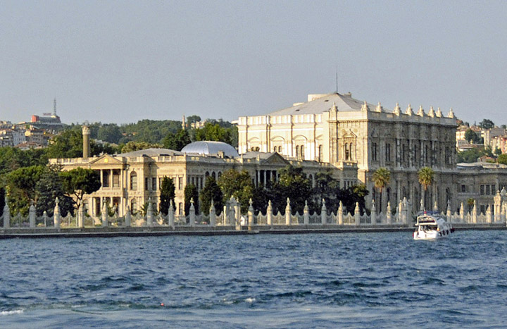 Istanbul's Dolmabahçe Palace from Bosporus. (Photo by Don Knebel)