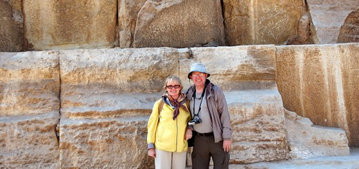 Don Knebel and wife Jen in front of the pyramids in Egypt. (Submitted photo)