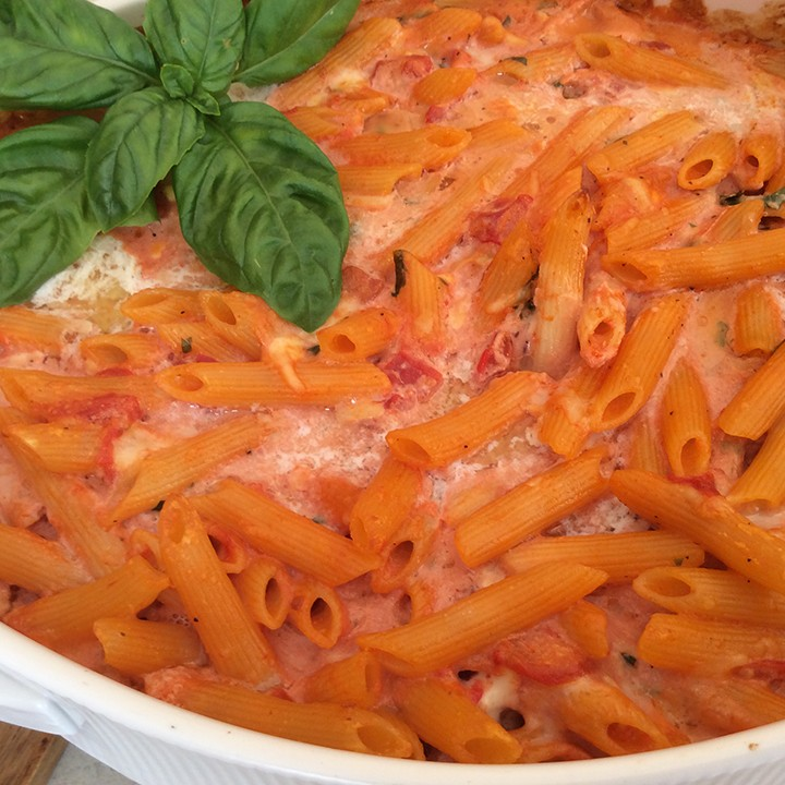 Penne with five cheeses. (Photo by Ceci Martinez)