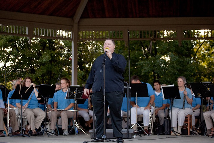 Charles Conrad, IWS conductor, leads the Indiana Wind Symphony at a performance earlier this year. The IWS will open its 18th season on Oct. 17 in Carmel. (File photo)
