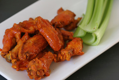 Crispy oven baked buffalo wings are a classic for any tailgate. (Submitted photo)