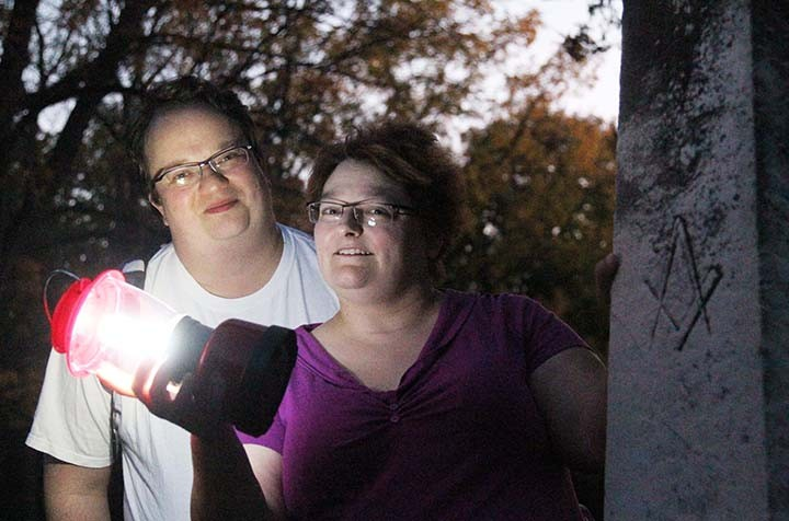 Nicole and Michael Kobrowski explore haunted places year-round. (Photo by Adam Aasen)