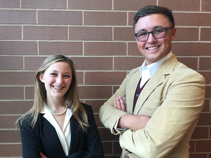"""Madeline Hatfield and Jarrett Yates are two main characters in """"Legally Blonde."""" (Photo by Mark Ambrogi)"""