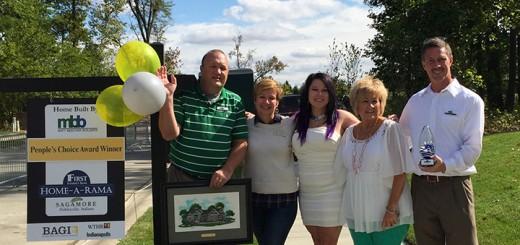 From left: Matt Beecher, Andrea Foley,  Peggyann Hamilton,Vicki Bosley, and Kurt Och celebrate the win. (Submitted photo)