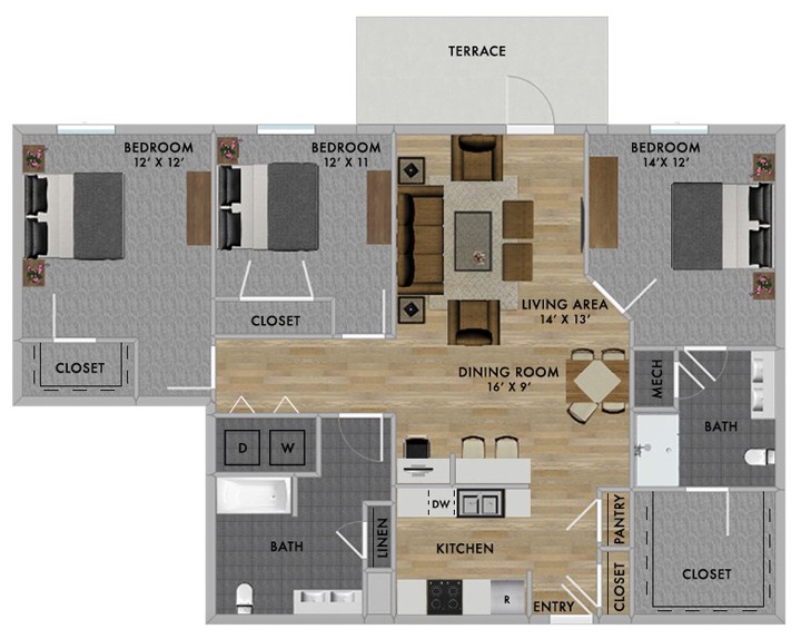 One of the floor plans inside The Nash. (Submitted image)