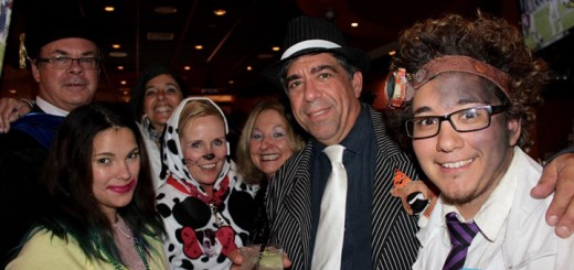 Fisher friends Doug Professor, Luna Fall, Margarita Danley, Michelle Powell and Cindy and Richard Holloway-Jackson celebrate Halloween night as well as son Quinn Holloway-Jackson's 24th birthday at Bella Vita.
