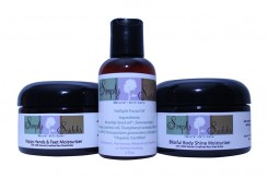 Some of Pearsall's skincare products that she will showcase at Dophin Tank on Nov. 12.