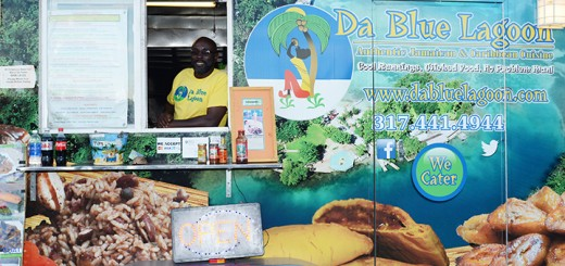 Graham Levy, owner and chef of Da Blue Lagoon, smiles from his truck.
