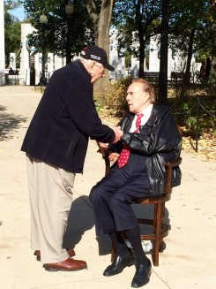 Ray Casciari, left, meets former Sen. Bob Dole during his Indy Honor Flight visit to Washington, D.C. (Submitted photo)