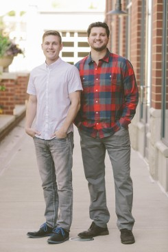 Longtime friends Ben Royal, left, and Michael Yonke created Pod to make giving easier. (Submitted photo)