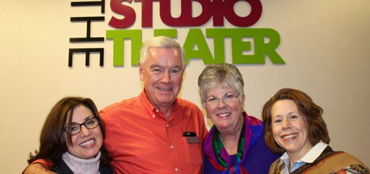 """""""Where's Amy?"""" … Hanging out with ATI founder Judy Fitzgerald, executive director James A. Reilly and his lovely wife, PJ, and the fabuolus Cynthia Collins, ATI founder, at the opening night of """"The Andrew Brothers."""""""