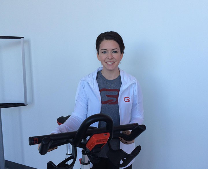 CycleBar Carmel marketing and sales manager Abby Armstrong. (Photo by Mark Ambrogi)