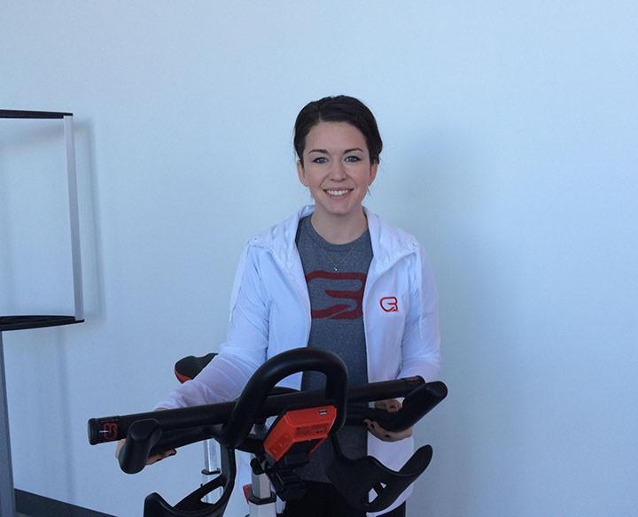 CycleBar Carmel marketing and sales manager Abby Armstrong. (Photo by Mark Ambrogi)