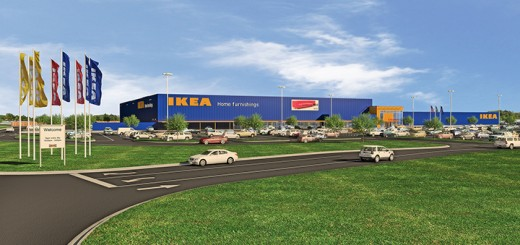 A rendering of the proposed IKEA Fishers store. (Submitted rendering)