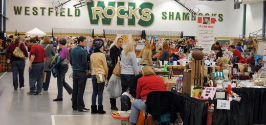 Attendees mingle through the booths at last year's Westfield Band Booster Craft Show. (Submitted photo)