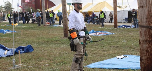 Chris Wilson and his team participated in the Lineman's Rodeo in Kansas last month. (Submitted photo)