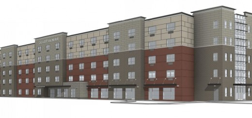 The rendering for the proposed hotel. (Source: City of Westfield)