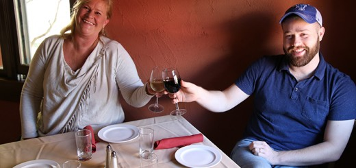 Nyla, left, and Alec Wolf cheers to opening The Italian House. (Photo by Feel Good Now)